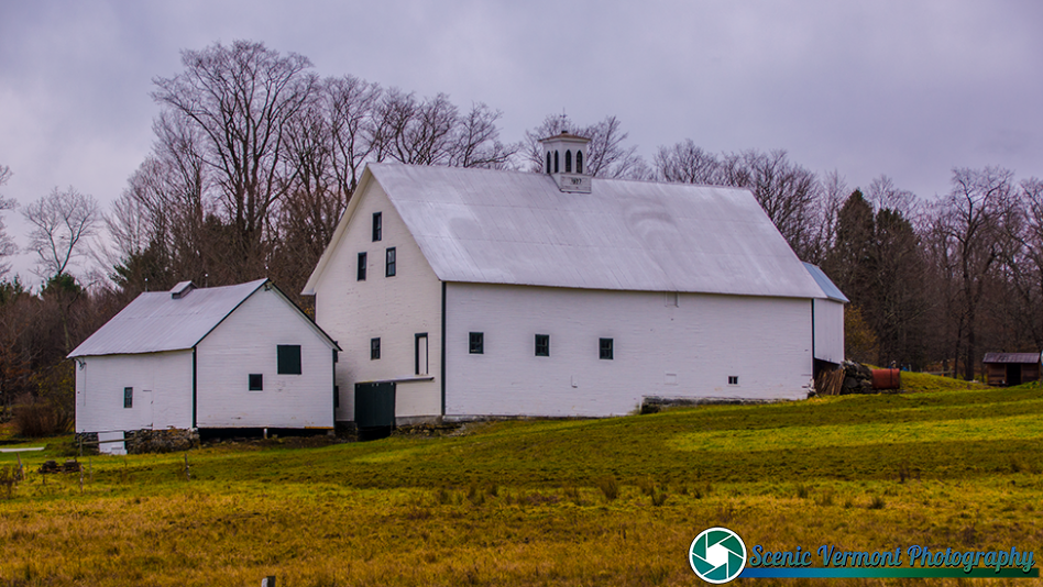 The backside of the barn at the Templeton Farm near Montpelier Vermont.