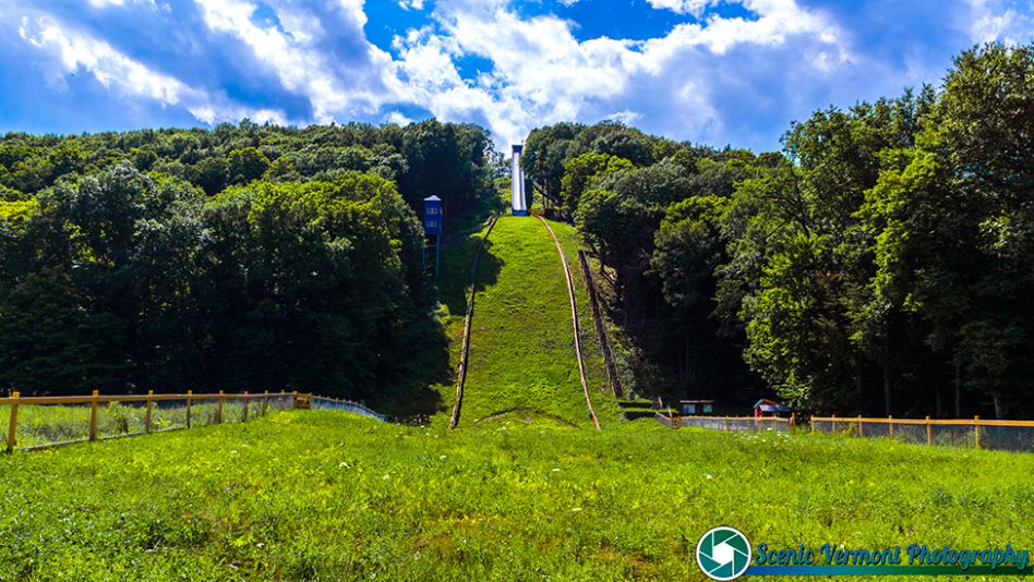 Summer at Harris Hill Ski Jump in Brattleboro