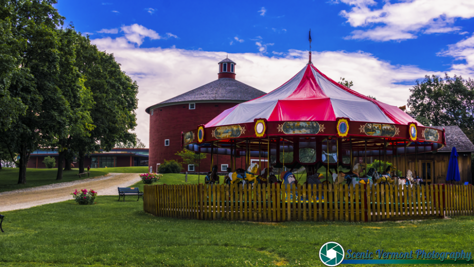 The Round Barn and Merry-Go-Around at the Shelburne Museum.
