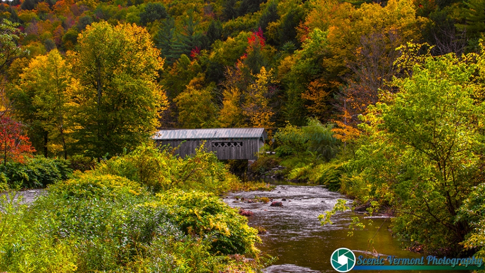 Autumn at the Comstock Covered Bridge in Montgomery