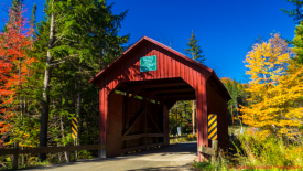 The Moseley/Stony Brook Covered Bridge. Northfield, Vermont.