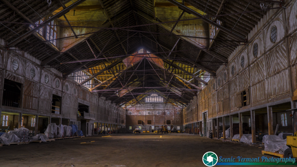 Inside the breeding barn at the Shelburne Farms.