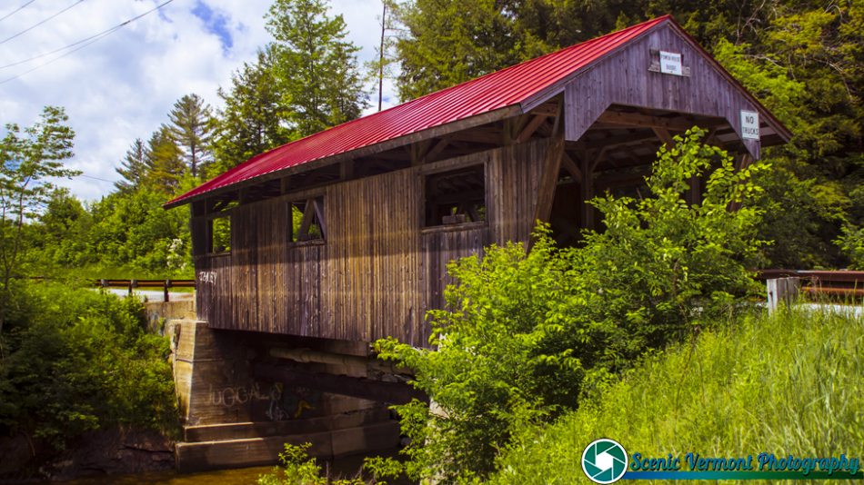 Power House Covered Bridge in Johnson