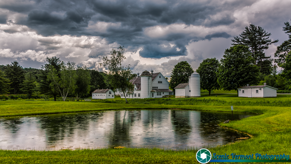 A summer shower in Arlington Vermont.