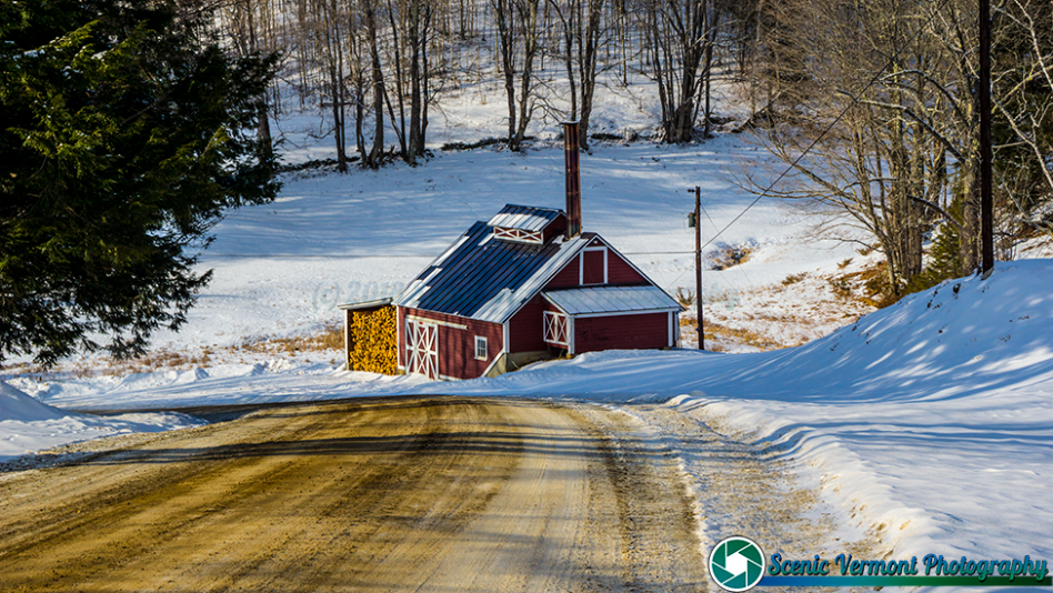 On the back roads of Vermont, A Vermont sugarhouse