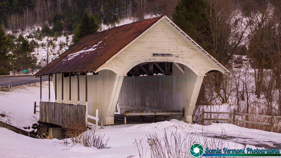 The Schoolhouse covered bridge in Lyndon, Vermont